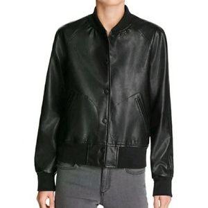 Aqua Bomber jacket faux leather